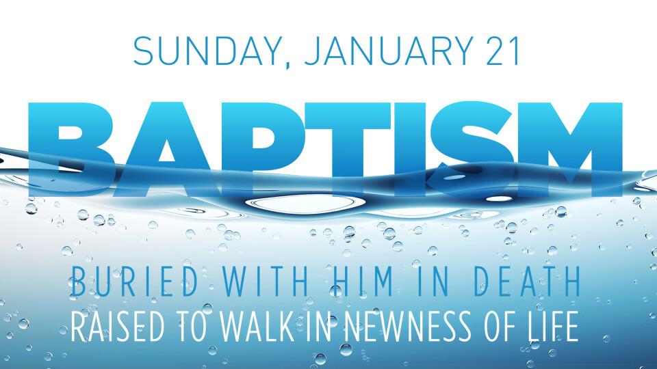 Baptism Service Jan 2018